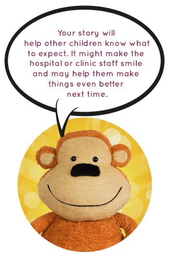 Monkey says: ask a grown up to help you tell your story
