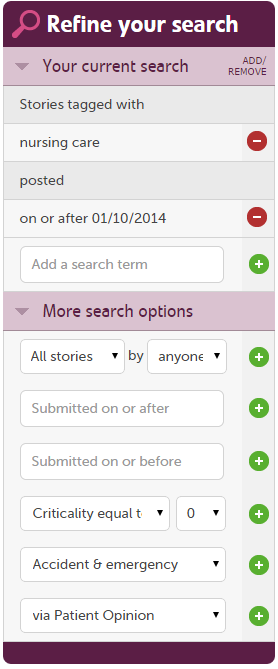 Additional search terms are available when you are logged in